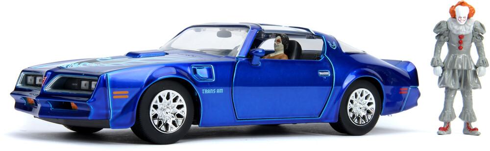 - Jada 1:24 Diecast IT 1977 Pontiac Firebird With Pennywise Figure