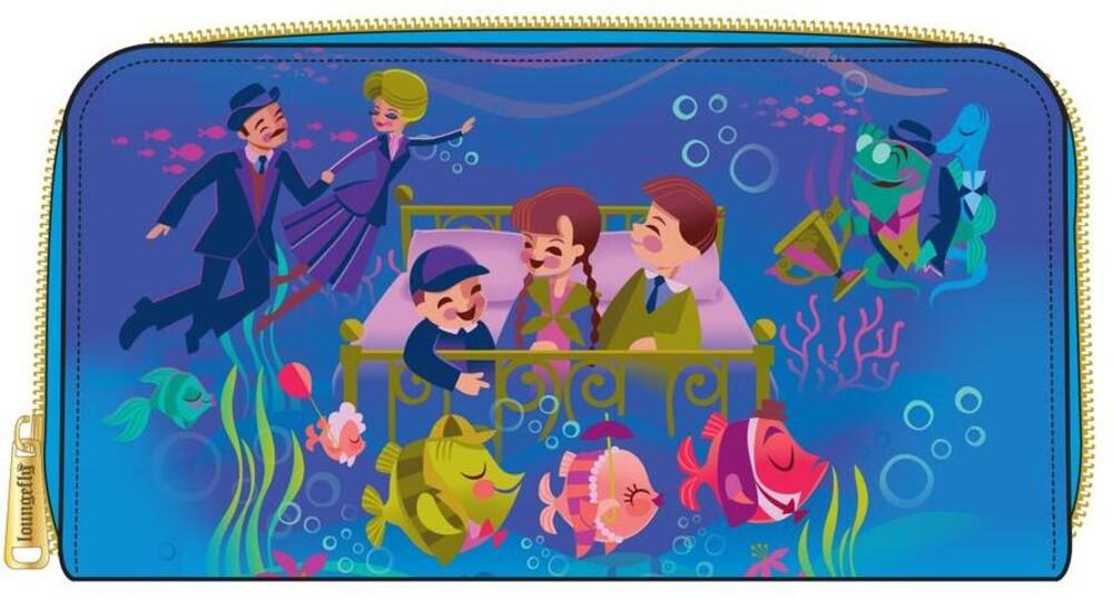 Loungefly Disney: - Bedknobs And Broomsticks Underwater Zip Around Wal