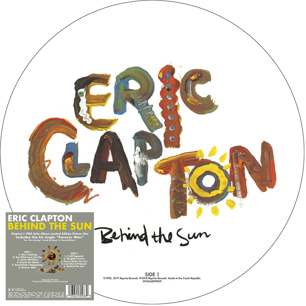 Eric Clapton - Behind The Sun [Picture Disc LP]