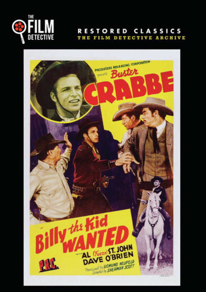 """Larry """"Buster"""" Crabbe - Billy The Kid Wanted / (Mod Rstr Mono)"""