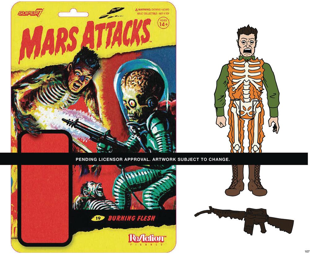 Mars Attacks Wave 1 - Burning Skeleton Human - Mars Attacks ReAction Wave 1 - Burning Skeleton Human