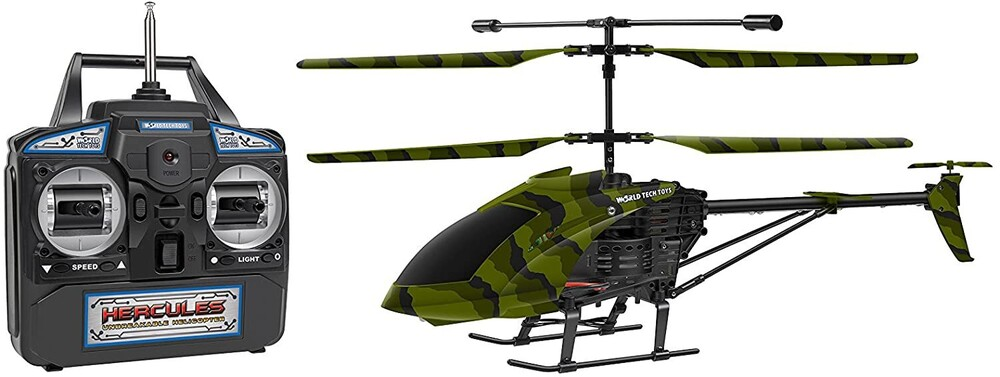 Rc Helicopters - 3.5CHs: Camo Hercules Unbreakable Remote Control Gyro Helicopter