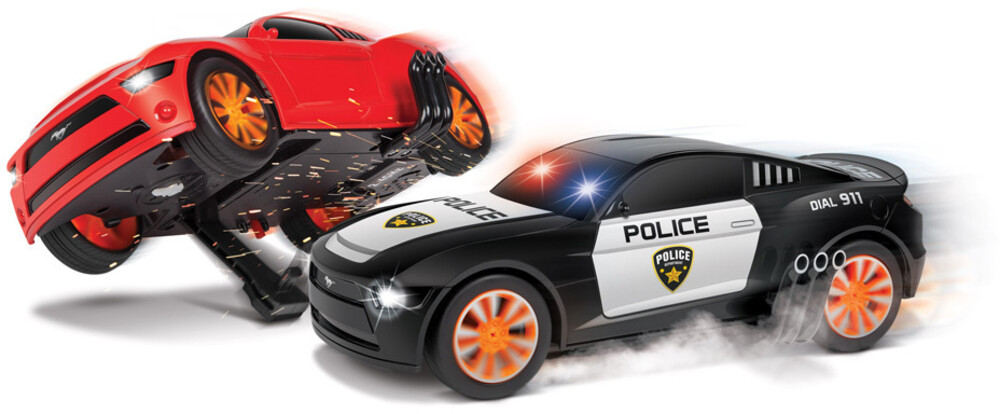 Rc Vehicles - 1:20 Officially Ford Mustang Battle Pursuit Flip Action RC Cars Double Pack