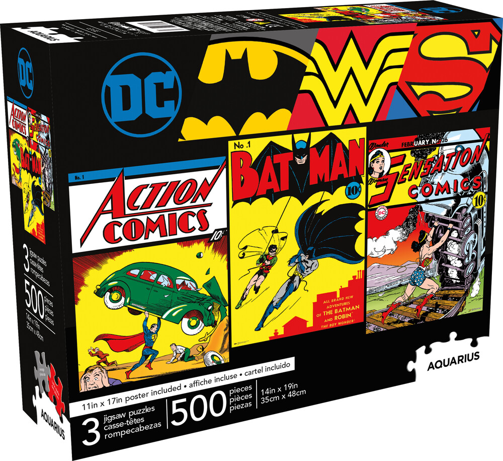 Dc Comics 500 PC X 3 Puzzle Set - DC Comics 500 Pc x 3 Puzzle Set