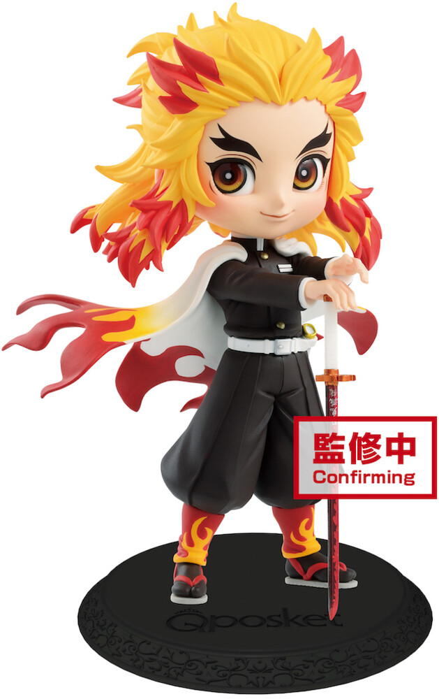 Banpresto - BanPresto - Demon Slayer Kyojuro Rengoku Q posket Figure Version 1