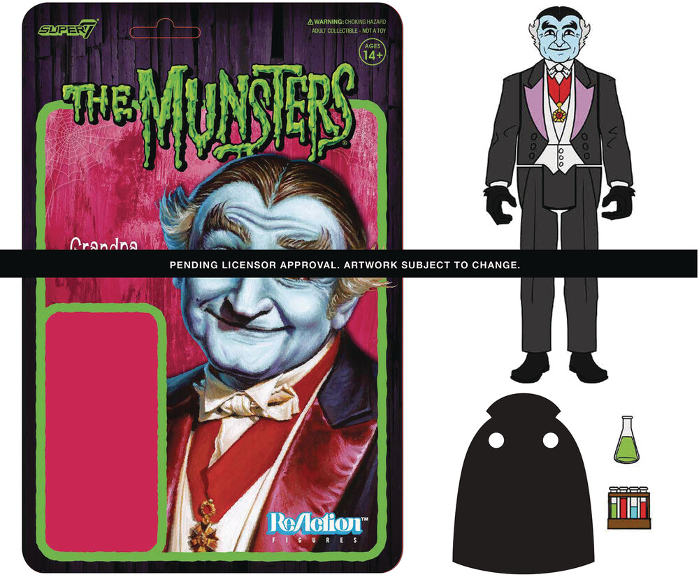 Munsters Reaction Wave 1 - Grandpa - Super7 - Munsters ReAction Wave 1 - Grandpa