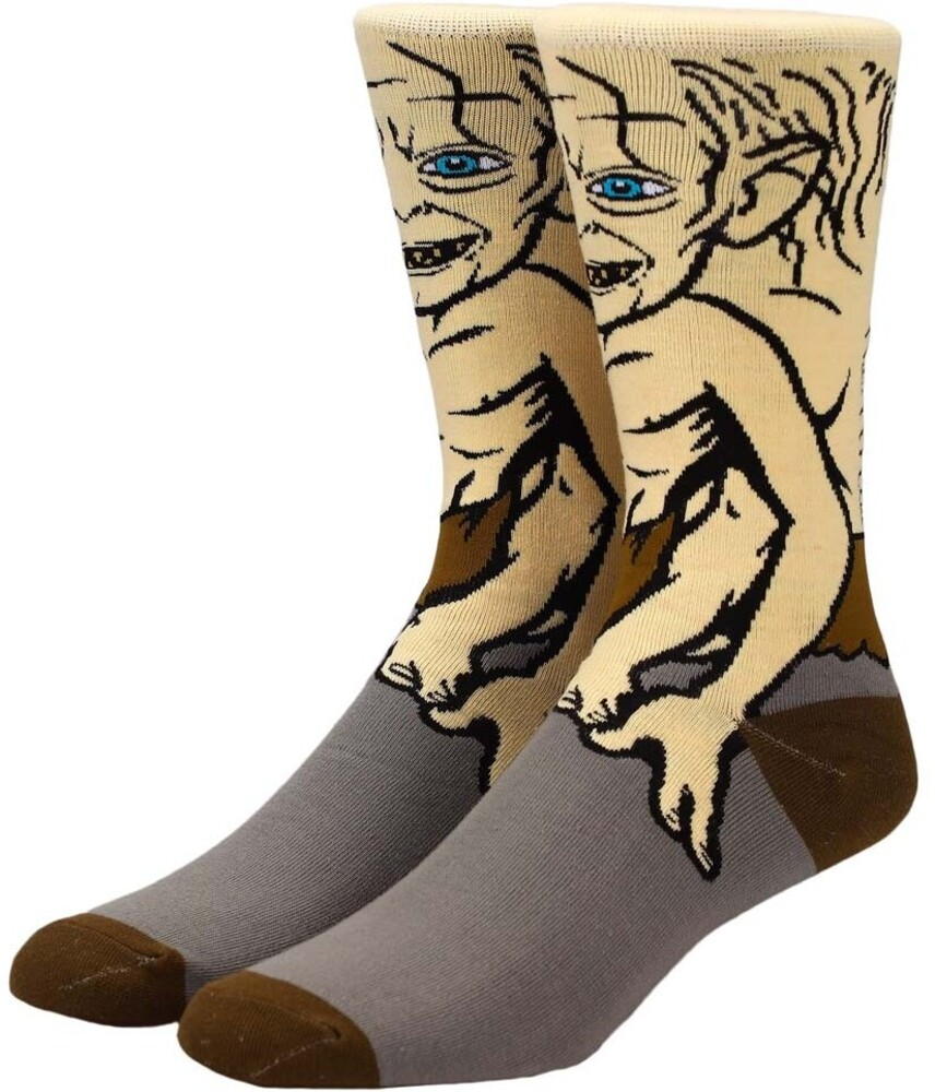 Lord of the Rings Gollum Character Crew Socks 8-12 - Lord Of The Rings Gollum 360 Character Crew Socks Men's Shoe Size 8-12