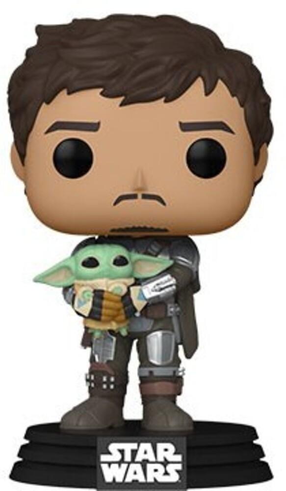 Funko Pop! Star Wars: - Mandalorian- Mando Holding Child (Vfig)