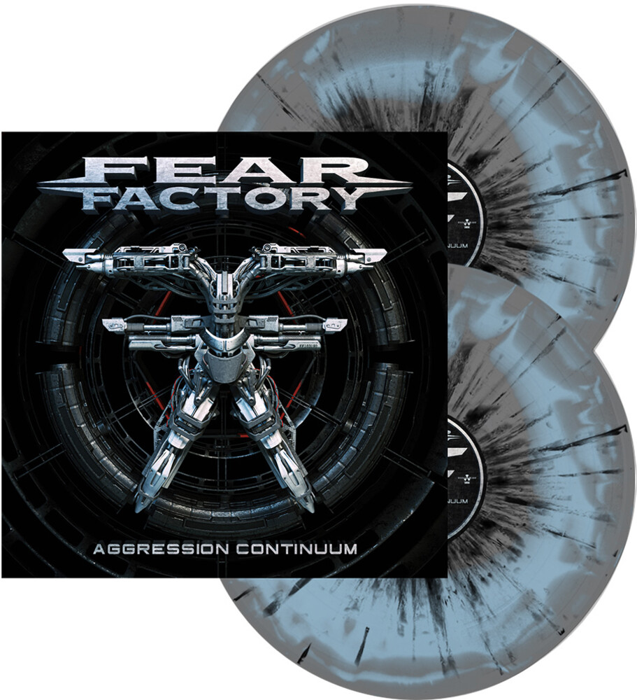 Fear Factory - Aggression Continuum (Grey & Light Blue Swirl)