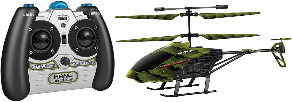 Rc Helicopters - 3.5CHs: Camo Nano Hercules IR UNBREAKABLE Gyro Helicopter