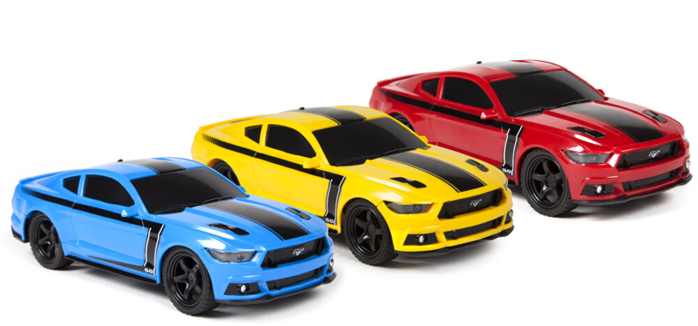 Rc Vehicles - 1:24 Ford Mustang RC Car (One random color per transaction. Colors yellow, blue or red.)