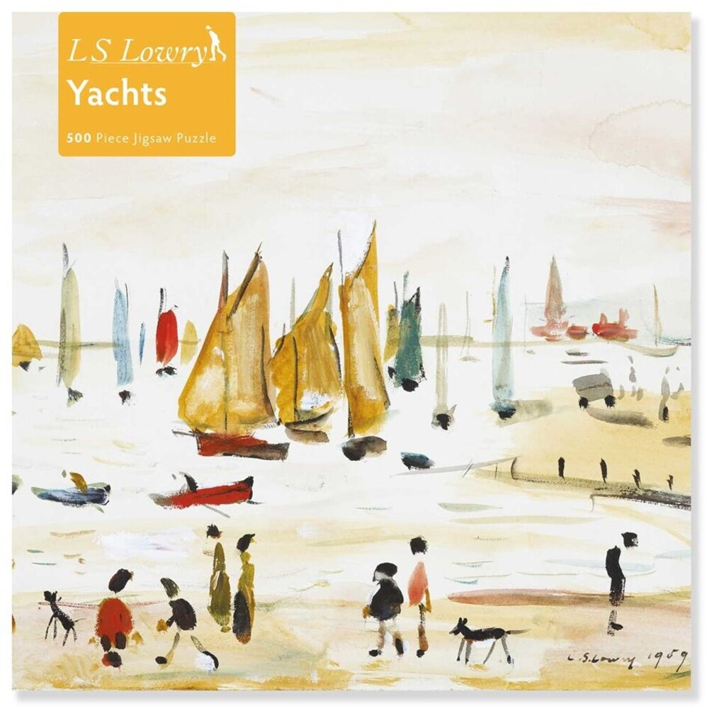 Flame Tree Studio - Adult Jigsaw Puzzle L.S. Lowry: Yachts: 500-piece Jigsaw Puzzle