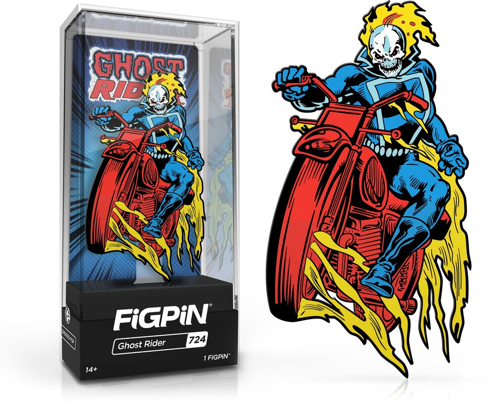 Figpin Marvel Classic Comics Ghost Rider #724 - FiGPiN Marvel Classic Comics Ghost Rider #724