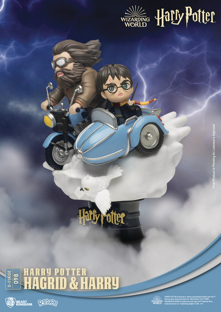 Beast Kingdom - Harry Potter Ds-098 Hagrid And Harry D-Stage 6in S