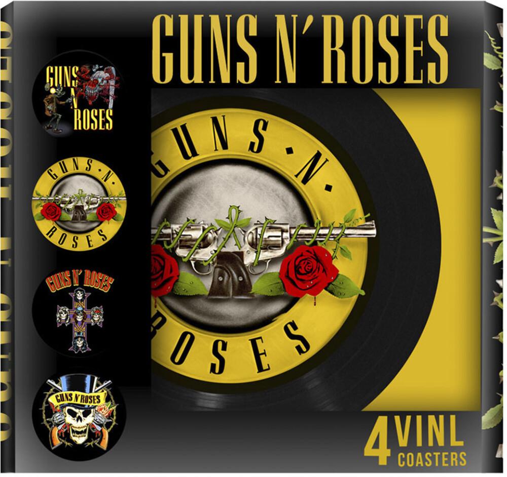 Guns N Roses 4 PC Coaster Set - Guns N Roses 4 Pc Vinyl Coaster Set