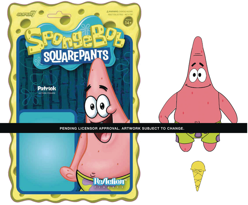 Spongebob Reaction Wave 1 - Patrick - Super7 - Spongebob ReAction Wave 1 - Patrick