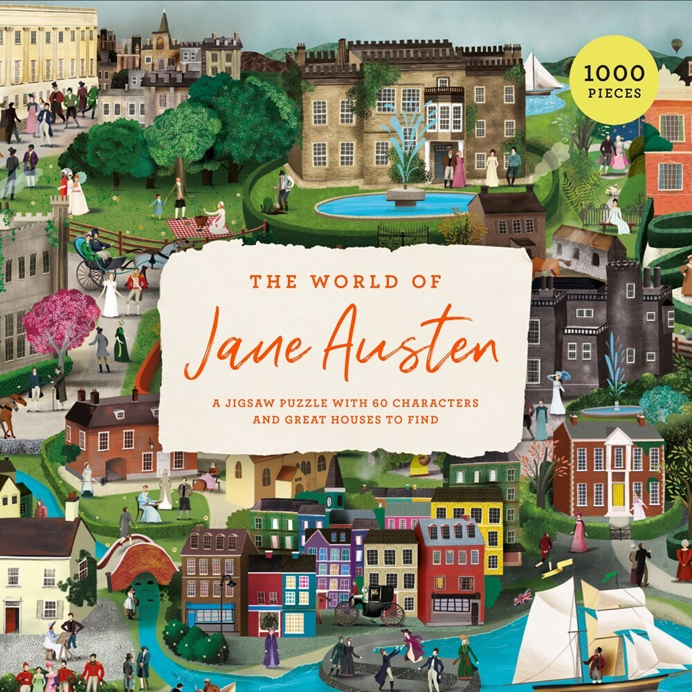 - The World of Jane Austen: A 1000 Piece Jigsaw Puzzle with 60 Characters and Great Houses to Find