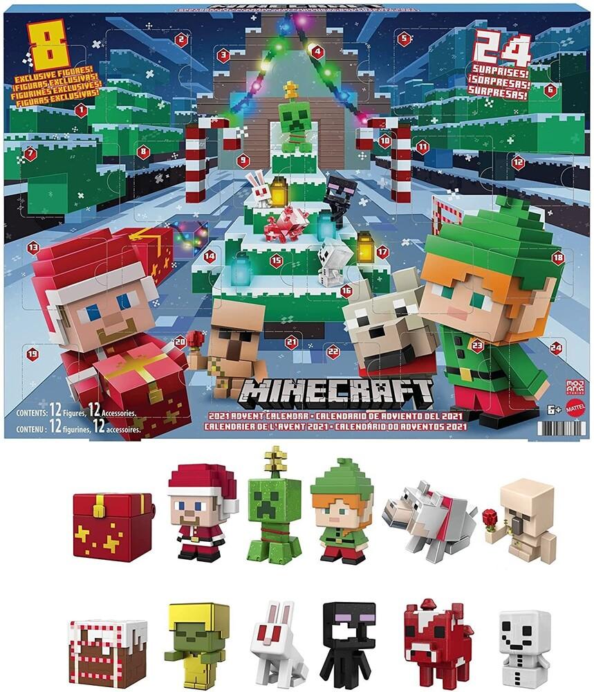 Minecraft - Mattel Collectible - Minecraft Advent Calendar, 2021