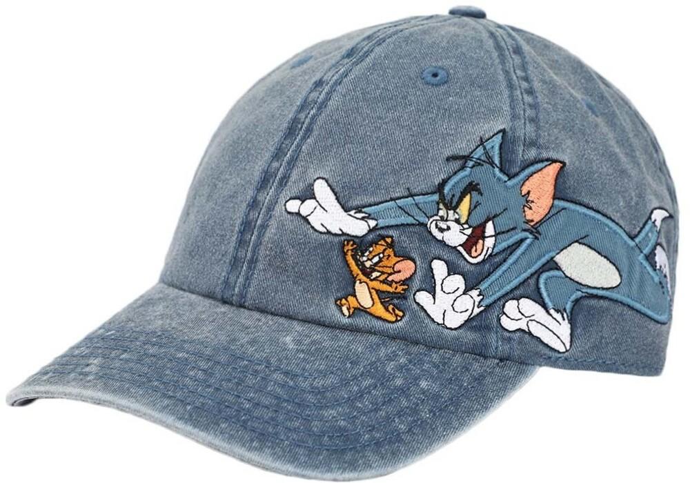 Tom & Jerry Pigment Dyed Adj Baseball Cap - Tom & Jerry Pigment Dyed Adj Baseball Cap (Hat)