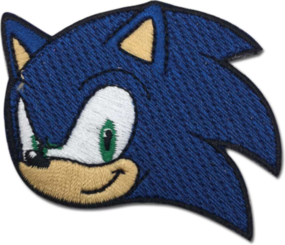Sonic the Hedgehog Face 2.5 Inch Embroiderd Patch - Sonic The Hedgehog Face 2.5 Inch Embroiderd Patch