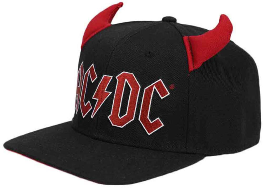 Ac/Dc Horn Pre-Curved Bill Snapback Bb Cap - Ac/Dc Horn Pre-Curved Bill Snapback Bb Cap (Hat)