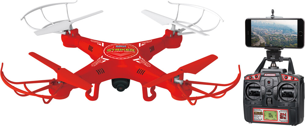 Rc Drone - 2.4Ghz 4.5ch Striker Spy Drone Picture & Video Remote Control Quadcopter - LIVE FEED (One random color per transaction. Colors w