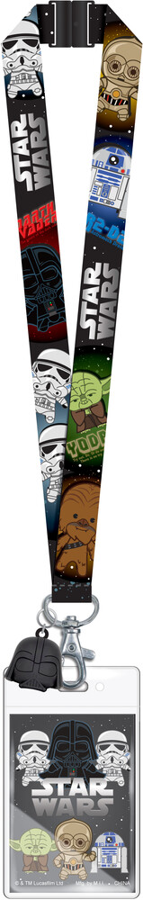 Star Wars - Lanyard Soft Touch Dangle - Star Wars - 3D Foam Style - Lanyard with Soft Touch Dangle