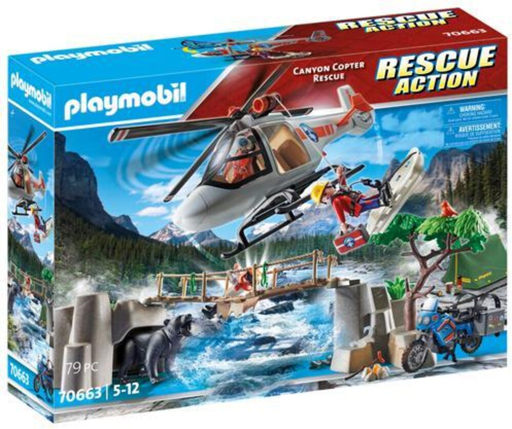 - Rescue Action Canyon Copter Rescue (Fig)