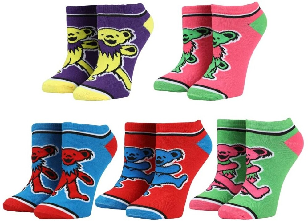- Grateful Dead 5 Pk Ankle Socks Womens 5-10 (Mult)