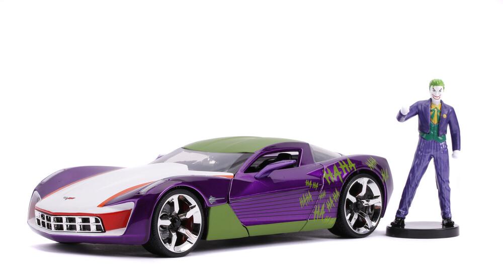 - Jada 1:24 Diecast 2009 Chevy Corvette Stingray Concept With JokerFigure