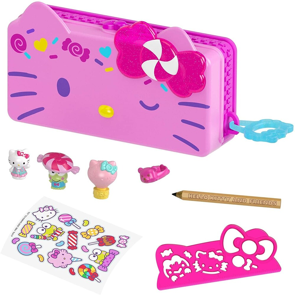 - Mattel - Hello Kitty and Friends Minis Candy Carnival Pencil Case Playset (Sanrio)