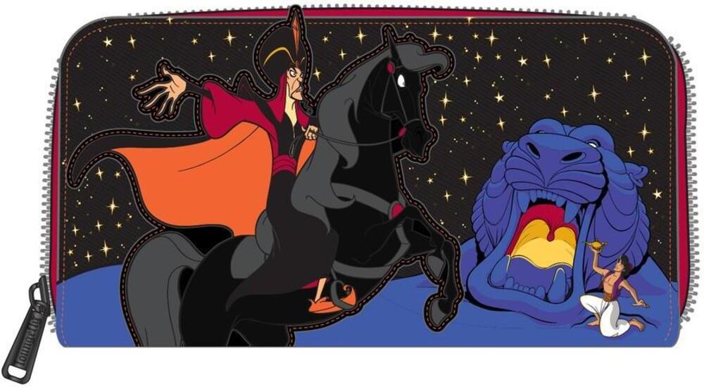 Loungefly Disney: - Alladin Jafar Villains Scene Zip Around Wallet