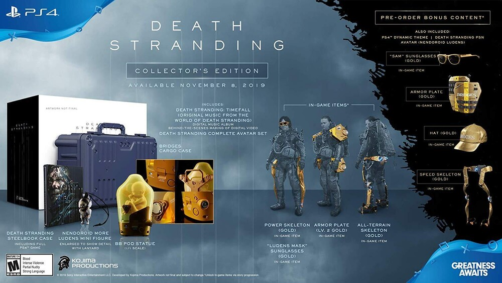 Ps4 Death Stranding Collectors Edition - Death Stranding Collectors Edition