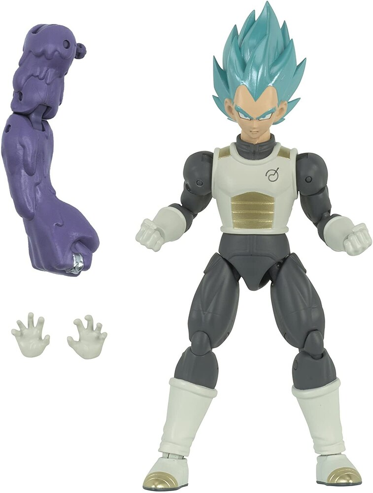 "Dragonball Super Dragon Stars - Bandai America - DragonBall Super Dragon Stars Super Saiyan Blue Vegeta 6.5"" Action Figure"