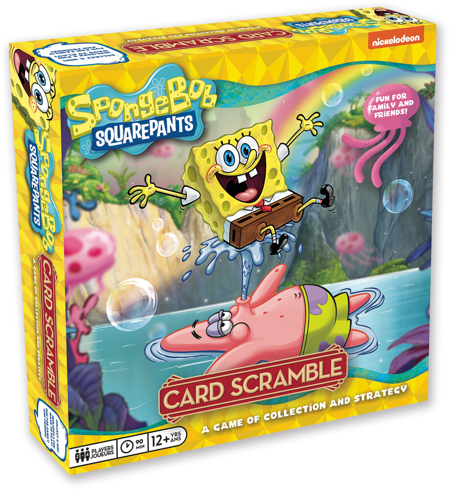 Spongebob Squarepants Card Scramble Board Game - SpongeBob Squarepants Card Scramble Board Game