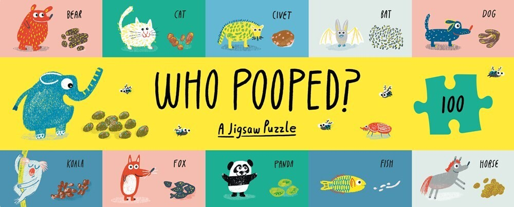 - Who Pooped?: A 100-Piece Jigsaw Puzzle