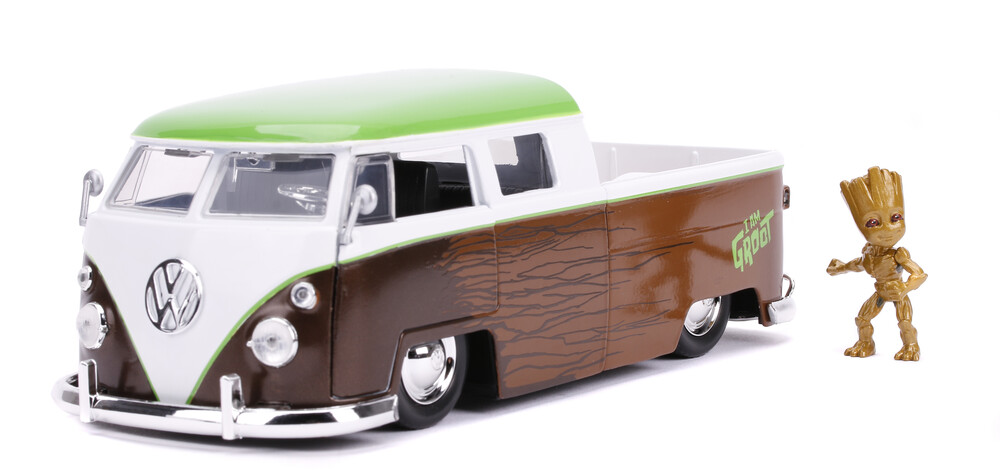 - Jada 1:24 Diecast 1963 Volkswagen Bus With Groot Figure