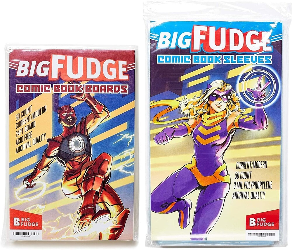 - Big Fudge Bfcscbx50us Comic Bags/Brds Bundle 50ea