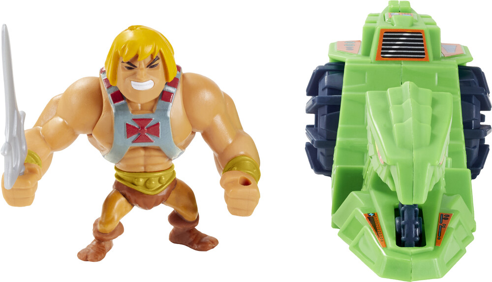 Masters Of The Universe - Mattel Collectible - Masters of the Universe Eternia Minis He-Man & Ground Ripper Pack (He-Man, MOTU)