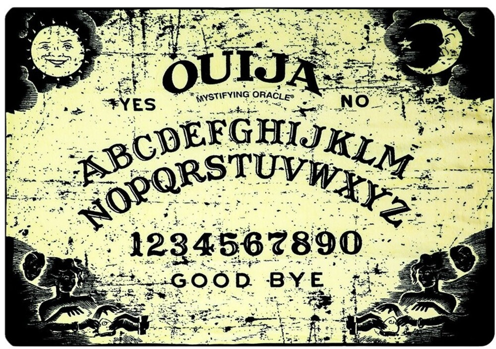 Ouija Board Digital 48 X 60 Fleece Flannel Throw - Ouija Board Digital 48 X 60 Fleece Flannel Throw
