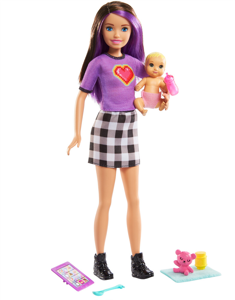 - Mattel - Barbie Babysitter Doll, Baby and Accessory Assortment
