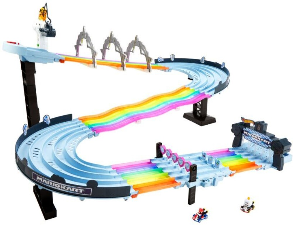 Hot Wheels - Mattel - Hot Wheels Mario Kart Rainbow Road Raceway