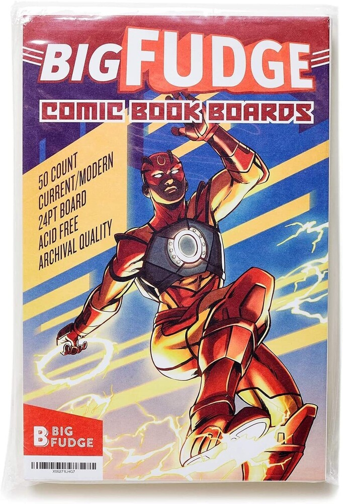 - Big Fudge Bfcbx50us Comic Boards 6.87x10.5 50p Wht