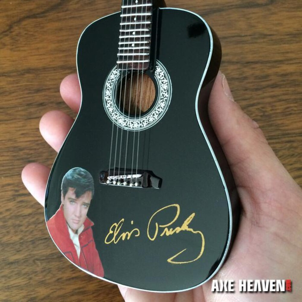 - Elvis Presley Signature Black Acoustic Mini Guitar