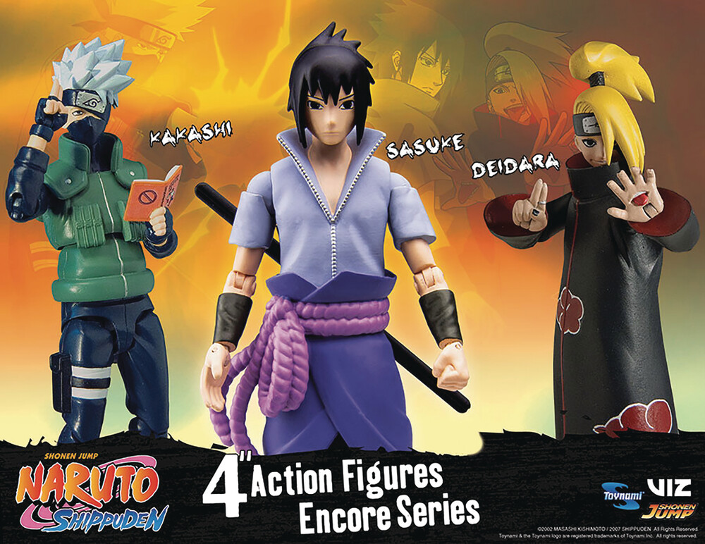- Naruto Shippuden 4in Poseable Af Encore S1 Asst (N
