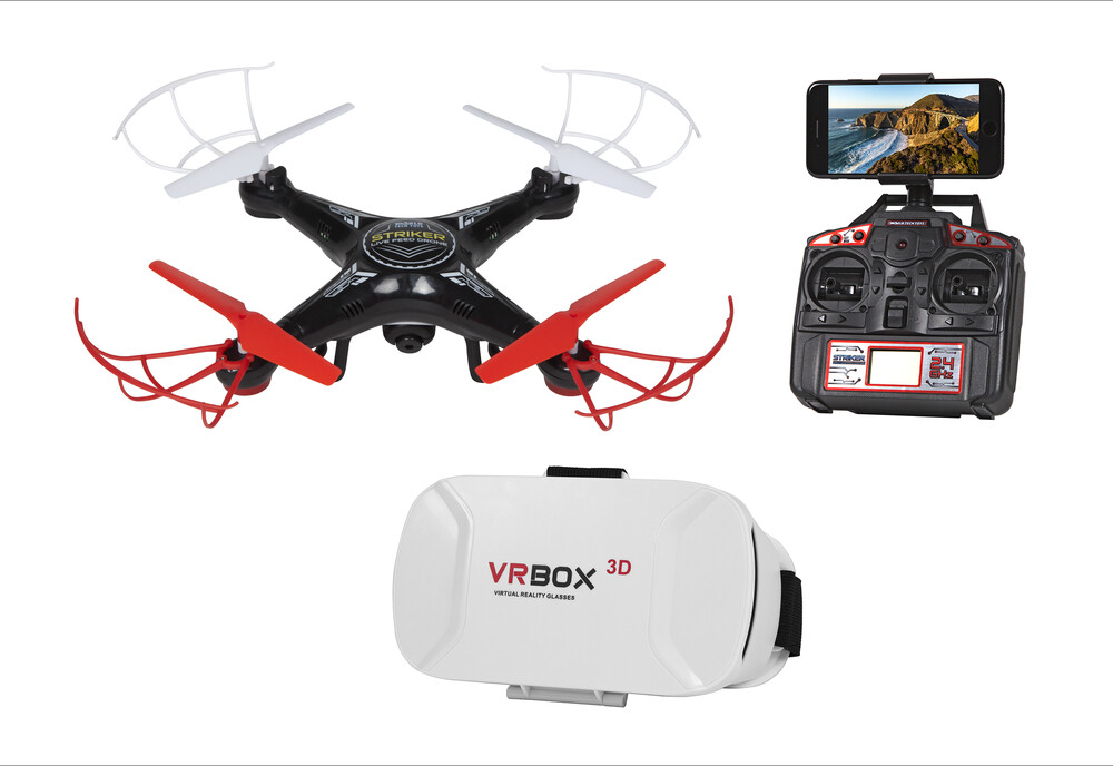 Rc Drone - First-person view (FPV) Goggle Striker WIFI Live Feed 2.4GHz 4.5ch Video Camera RC Quadcopter (One random color per transaction.