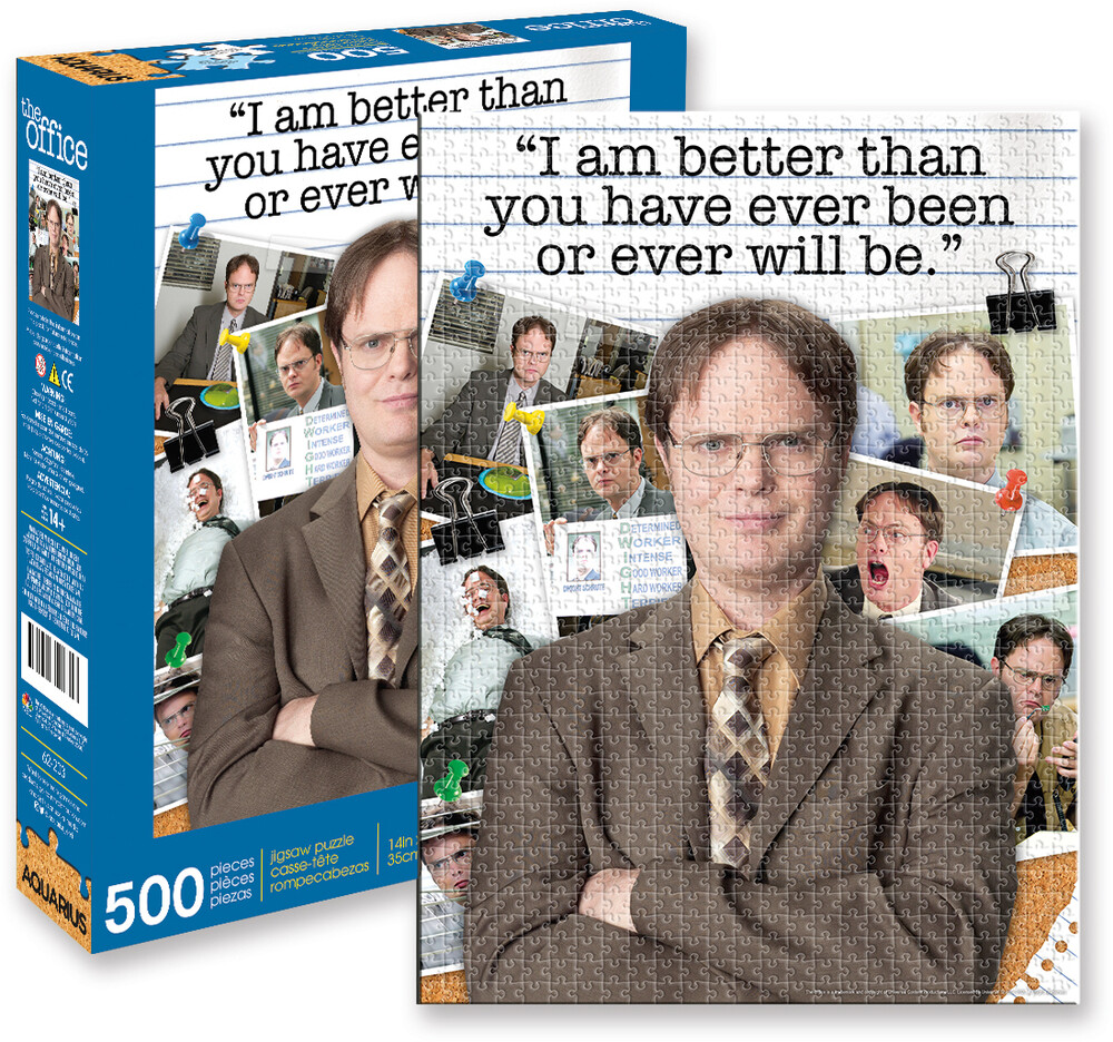 Office Dwight Schrute Quote 500 PC Jigsaw Puzzle - The Office Dwight Schrute Quote I'm Better Than You Have Ever Been OrEver Will Be 500 Pc Jigsaw Puzzle