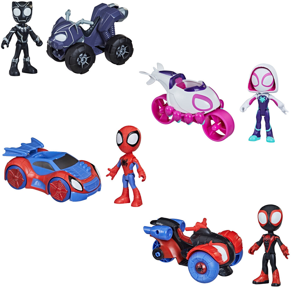 Saf Vehicle and Figure Ast - Hasbro Collectibles - Spidey And His Amazing Friends Vehicle AndFigure Assortment