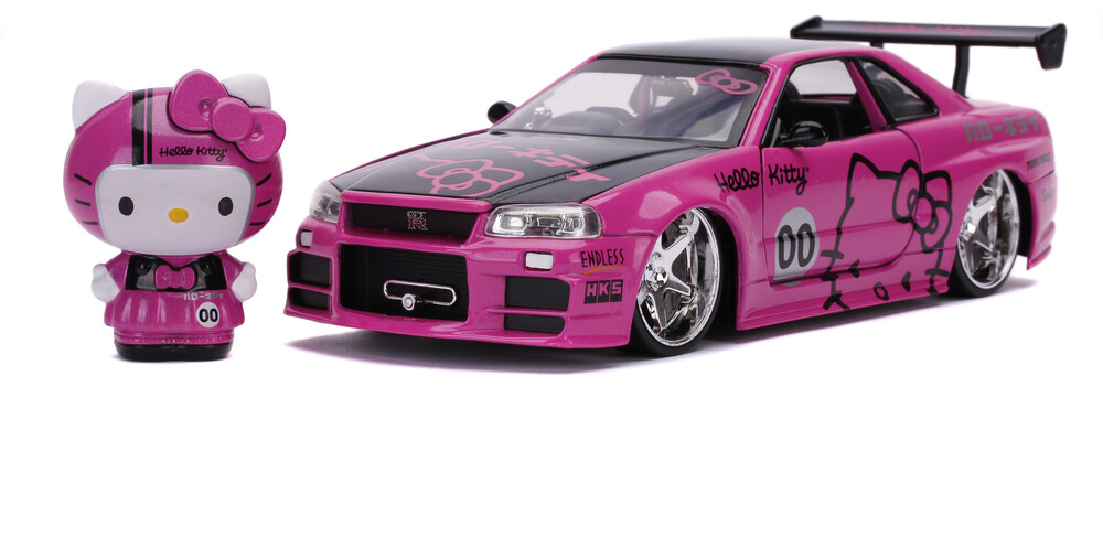 - Jada 1:24 Diecast 2002 Nissan Skyline With Hello Kitty Figure