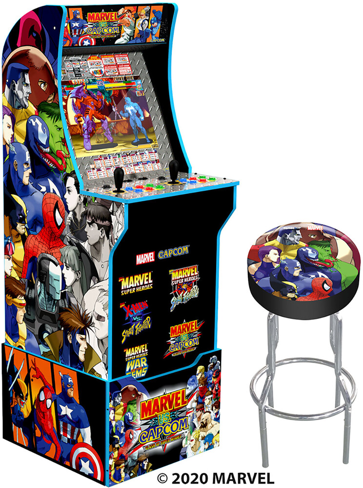 - Marvel Vs Capcom W/Stool/Riser/Lit Marquee